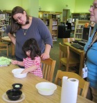 The soap craft was supervised by Laura