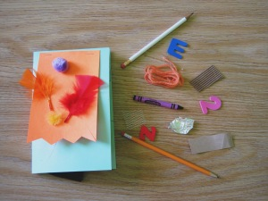 Sensory craft: touch and feel book