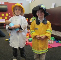 All dressed up at a Family PlayShop program at CLP-Woods Run!